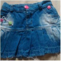 Saia Rodada com babado Jeans Infantil - 4 anos - Tirolt