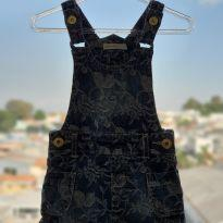 Jardineira Jeans - 6 a 9 meses - Planet Kids