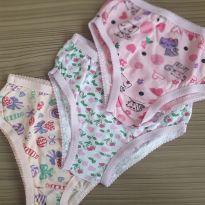Kit de Calcinhas Coloridas - 3 a 6 meses - Confecções Infantis