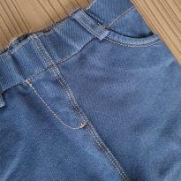 Calca Legging Jeans Fake Azul - 9 meses - Kiabi