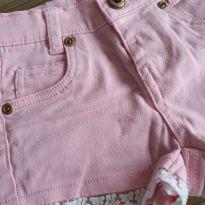 Short Jeans Rosa - 9 a 12 meses - Marisol