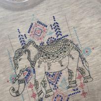 Camiseta Elefante - 9 a 12 meses - Puppy Baby