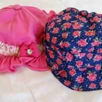 Kit chapéu boina 2 peças - 3 a 6 meses - Não informada