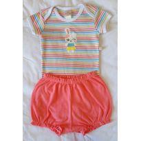 Kit 2 body manga curta e shorts - 6 a 9 meses - Best Club