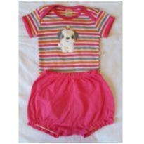 Conjunto body e short da Best Club cachorrinho - 9 a 12 meses - Best Club