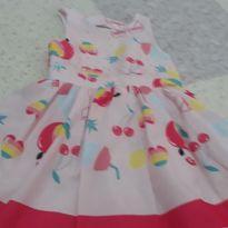 Vestido flamingos - 1 ano - Mon Sucré