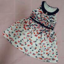 Vestido Mon Sucré Corações tamanho 2 - 18 a 24 meses - Mon Sucré