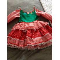 Vestido caipira lindíssimo - 3 anos - Não informada