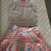 Conjuntinho de blusa com short saia novinho e maravilhoso - 3 anos - Petit