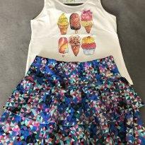 Conjunto de saia e blusa fofinho - 8 anos - Have Fun