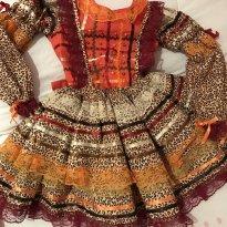 Vestido caipira luxo - 3 anos - Não informada
