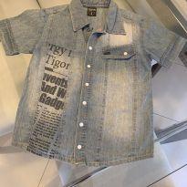 Camisão jeans Tigor 4 anos - 4 anos - Tigor T.  Tigre