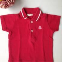Camiseta Polo da Benetton - 0 a 3 meses - Benetton Baby