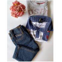 Conjunto US Polo- Jeans com Camiseta- 3 peças - 1 ano - US Polo Assn