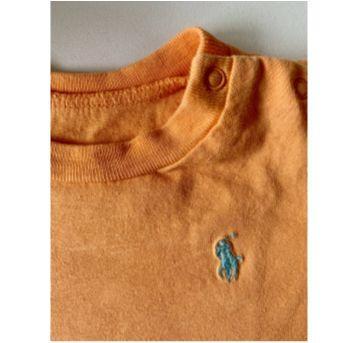 Camiseta Laranja Ralph Lauren - 6 meses - Ralph Lauren
