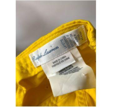 Boné Amarelo Ralph Lauren - 6 a 9 meses - Ralph Lauren