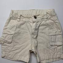 Shorts Bege Teddy Boom - 3 a 6 meses - Teddy Boom