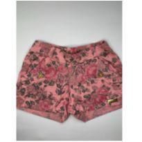 Shorts rosa florido Dila - 4 anos - DILA