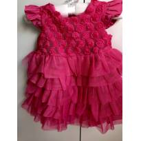 Vestido festa Children's Place USA - 6 a 9 meses - The Children`s Place