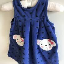 Vestido Plush Carters - 6 meses - Carter`s