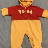 Macacão Pooh Disney em plush - 3 a 6 meses - Disney