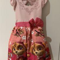Vestido Patrulha Canina - 4 anos - Artesanal