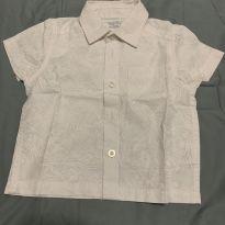 Camisa branca - 9 a 12 meses - Baby boom