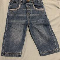 Calça jeans bebê - 6 a 9 meses - Babaluno Baby