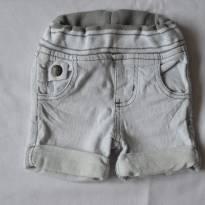 Short Jeans com stretch - 6 a 9 meses - Não informada