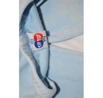 Dupla de calças Tiptop plush Azul clarinha P e M - 6 a 9 meses - Tip Top