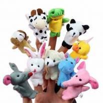 Kit dedoches com 10 animais. -  - Importada