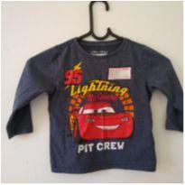 Camiseta manga longa disney Carros, peça interativa. - 1 ano - Disney
