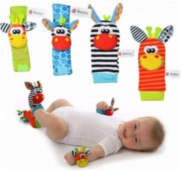 Kit de chocalhos para mãos e pés lamaze sozzy bebe - Sem faixa etaria - Sozzy