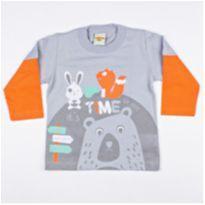 Camiseta Manga Longa G - 9 a 12 meses - PIMENTINHA KIDS
