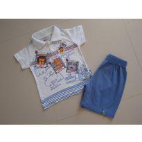 Conjunto Bermuda e camiseta gola polo - 2 anos - Elian