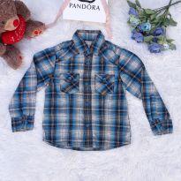 Camisa em Xadrez Azul - 5 anos - Sem marca