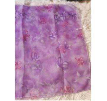 Echarpe Roxa Floral - Sem faixa etaria - Sem marca