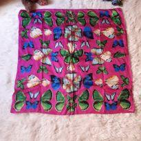 "Lenço ""Madame Butterfly"" -  - Sem marca"