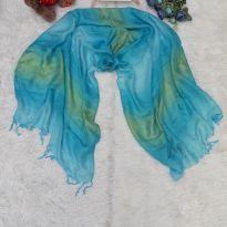 Lenço Azul Turquesa -  - Sem marca