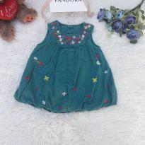 Vestido de Veludo Verde - 6 a 9 meses - Designers at Debenham