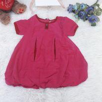 Vestido Pink de Veludo - 9 a 12 meses - Name it