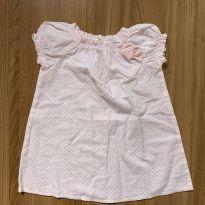 Vestido algodão estrelas - 6 a 9 meses - Benetton Baby