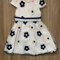 Vestido de tule com flores bordadas - 4 anos - Momi
