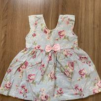 Vestido floral vintage - 6 a 9 meses - Girasol Baby