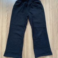 Calça moletom preta com laço - 4 anos - Figurinha