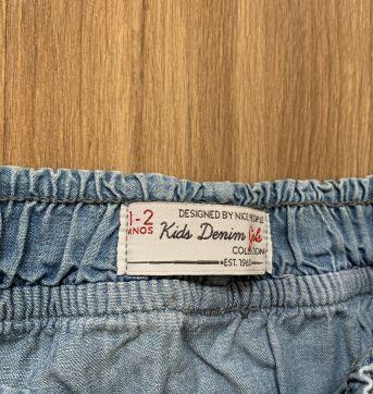Saia com calcinha e cinto - 18 a 24 meses - Kids Denim Girls