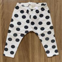 Calça legging flanelada estampa bolas - 12 a 18 meses - Zara Baby