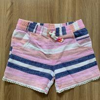 Shorts listrado em linho e viscose - 3 anos - Carter`s