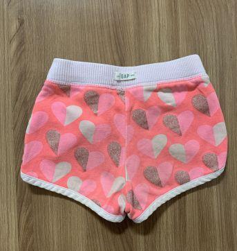 Shorts esportivo super fofo com corações rosa e glitter - 3 anos - Baby Gap