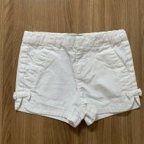 Bermuda branca com laço - 3 anos - Baby Gap